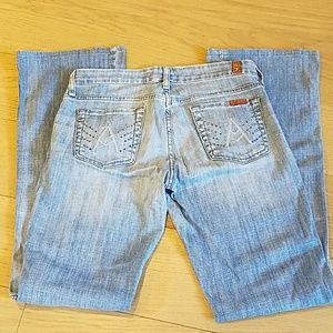 """7 for all Mankind """"A"""" pocket jeans size 26"""
